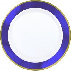 Purple White with New  Border Premium Plastic Dinner Plates