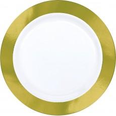 Gold Premium Plastic with  Border Dinner Plates