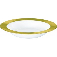 Clear Premium with New Gold Border Bowls
