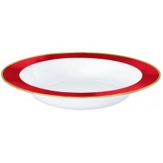 Red White with Apple  Border Bowls