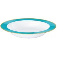 Caribbean Blue Border on White Premium Bowls 354ml Pack of 10