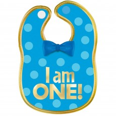 Boy's 1st Birthday Blue Fabric Bib Costume Accessorie