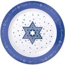 Hanukkah Foil Hot Stamped Plastic Lunch Plates