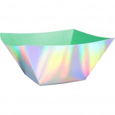 Iridescent Shimmering Party Paper Serving Bowls 20.3cm Pack of 3