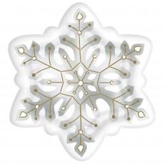 Christmas Snowflake Foil Dinner Plates