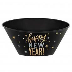 Black, Gold & Silver Happy New Year! Bowl 3.5lt