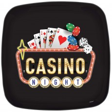 Casino Night Roll The Dice Plastic Platter