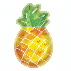 Hawaiian Luau Pineapple Shaped Paper Banquet Plates
