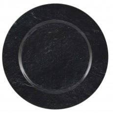Black Party Supplies - Banquet Plate Premium Charger