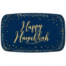 Hanukkah Party Supplies - Platter Rectangular Plastic