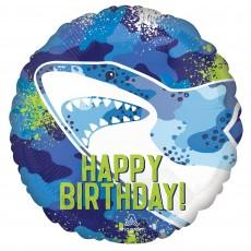 Shark Splash Party Decorations - Foil Balloon Standard HX