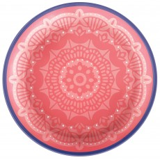 Round Boho Vibes Melamine Lunch Plates 17cm Pack of 4