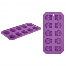Halloween Skull Shaped Ice Tray Plastic Mould Misc Accessorie