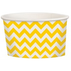 Chevron Design Sunshine Yellow Treat Paper Cups