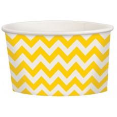 Sunshine Yellow Chevron Design Treat Paper Cups 280ml Pack of 20