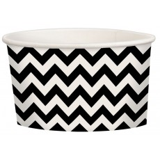 Chevron Design Jet Black Treat Paper Cups