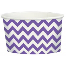 New Purple Chevron Design Treat Paper Cups 280ml Pack of 20