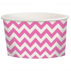 New Pink Chevron Design Treat Paper Cups 280ml Pack of 20