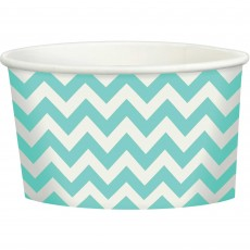 Chevron Design Robin's Egg Blue Treat Paper Cups