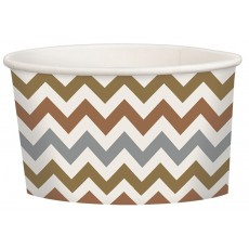 Chevron Design Mixed Metallic Treat Paper Cups