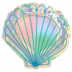 Mermaid Shine Iridescent Lunch Plates