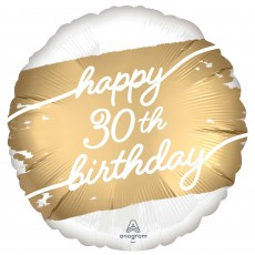 30th Birthday Party Decorations - Foil Balloon Golden Age Standard HX