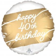 40th Birthday Party Decorations - Foil Balloon Golden Age Standard HX