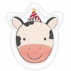 Barnyard Cow Shaped Paper Dinner Plates