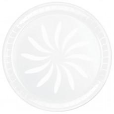 White Swirl Plastic Platter 40.6cm