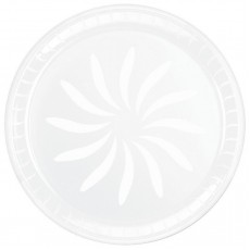 White Swirl Plastic Platter