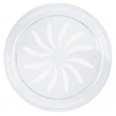 Clear Plastic Swirl Platter 40.6cm