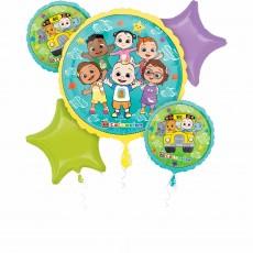 Cocomelon Party Decorations - Foil Balloons Bouquet