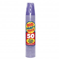 New Purple Big Party Plastic Cups 473ml Pack of 50