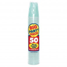 Robin's Egg Blue Big Party Plastic Cups 473ml Pack of 50