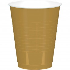 Gold Big Party Plastic Cups 473ml Pack of 50