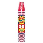 Apple Red Big Party Plastic Cups 473ml Pack of 50