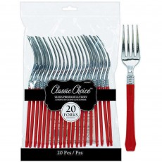 Apple Red Premium Classic Choice Forks Pack of 20