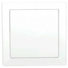 Square Clear Mini Catering Plastic Lunch Plates 12cm Pack of 10