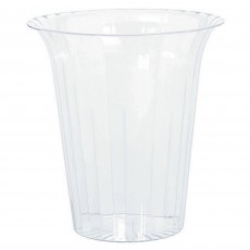 Clear Small Flared Plastic Cylinder Plastic Glass