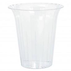 Clear Medium Flared Plastic Cylinder Plastic Glass