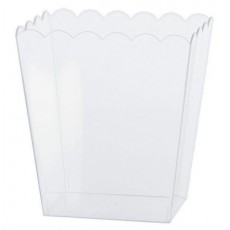 Clear Party Supplies - Small Scalloped Plastic