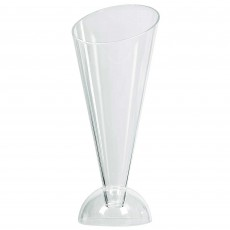 Clear Mini Catering Cone Stand Plastic Glasses 11cm Pack of 40