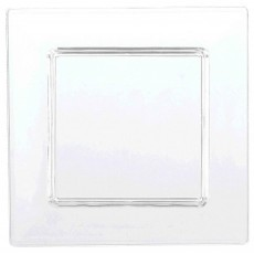 Square Clear Mini Catering Tiny Plastic Lunch Plates 7.6cm Pack of 40