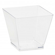Clear Mini Catering Cocktail Cubes Plastic Cups Pack of 40