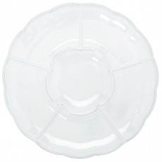 Clear Compartment Chip & Dip Plastic Tray 40.6cm