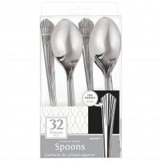 Silver Fan Handled Premium Spoons