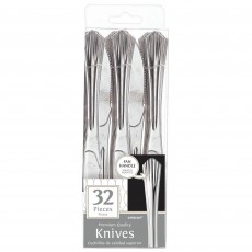 Silver Fan Handled Premium Knives Pack of 32