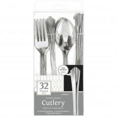 Silver Fan Handled Premium Cutlery Sets