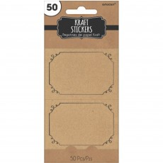 Kraft Paper Stickers Pack of 50