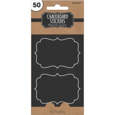 Chalkboard Party Supplies - Paper Stickers